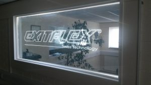 Exitflex sign fitted by our Electrician