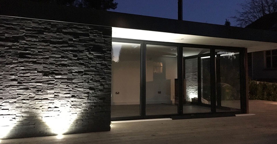 Outside lighting installed by our Electricians in Poole